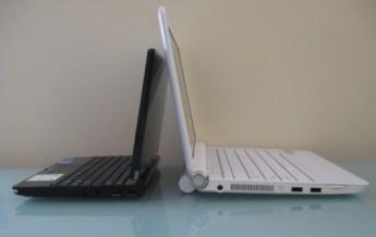 Left: Eee PC T91 / Right: IdeaPad S12