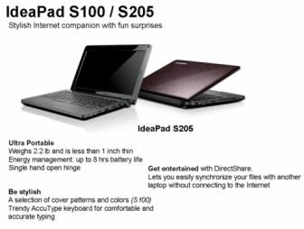 lenovo ideapad s100 and s205