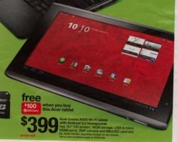 Acer Iconia Tab A500 Target ad