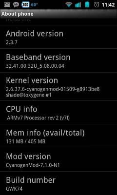 Google Nexus One CyanogenMod