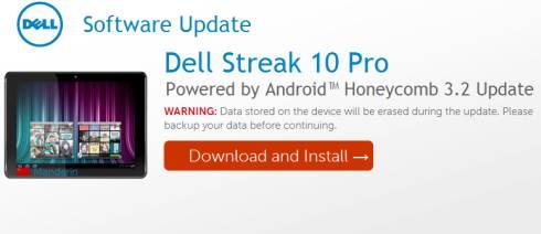 Dell Streak 10 Pro Android 3.2