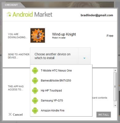Android Market install