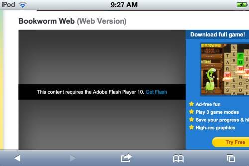 Adobe Flash missing