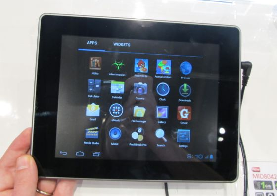 Coby 8042 Android 4.0 tablet