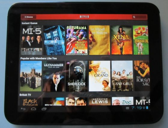 HP TouchPad with CyanogenMod 9 Alpha 2 with Netflix