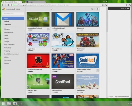Google Chromium OS with Aura Shell