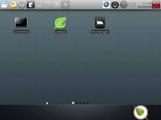 Bodhi Linux tablet UI