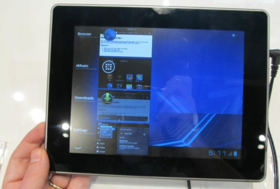 Coby tablet with Android 4.0