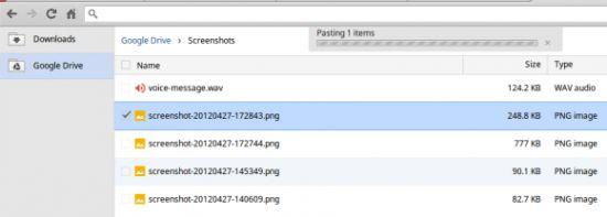Google Drive in Chrome OS