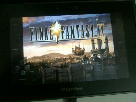 BlackBerry PlayBook PlayStation emulator