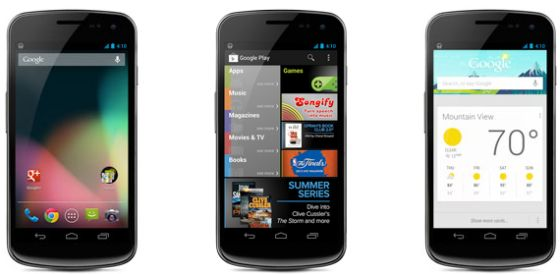 Samsung Galaxy Nexus with Android 4.1 Jelly Bean
