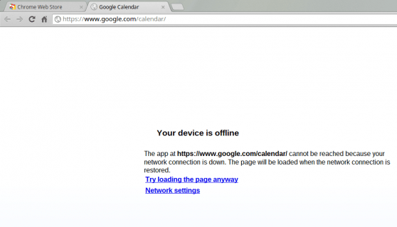 Chrome OS offline