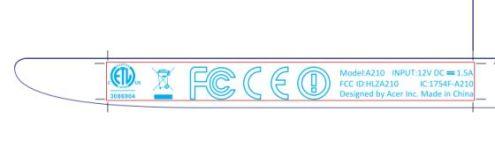 Acer Iconia Tab A210 FCC