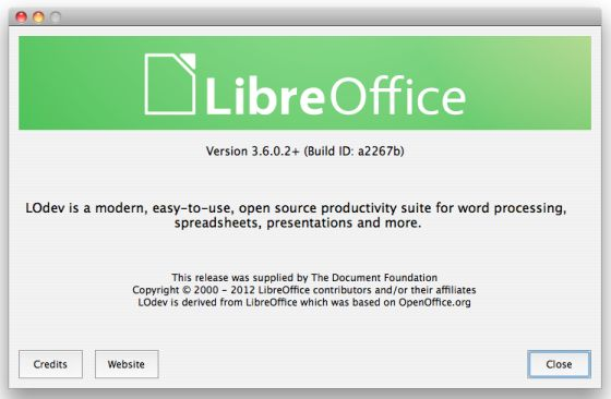 LibreOffice 3.6