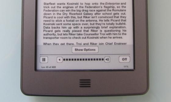 Amazon Kindle text-to-speech