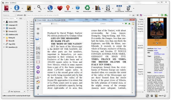 Calibre eBook manager hits 0 9, adds better Android phone, tablet