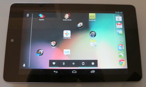 Google Nexus 7 with Android 4.1.2