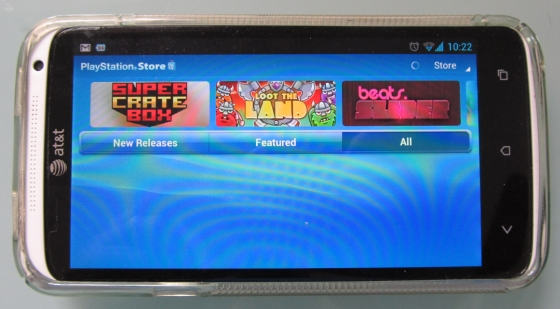 Sony PlayStation Mobile app on the HTC One X