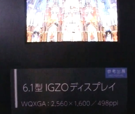 Sharp 6.1 inch IGZO display