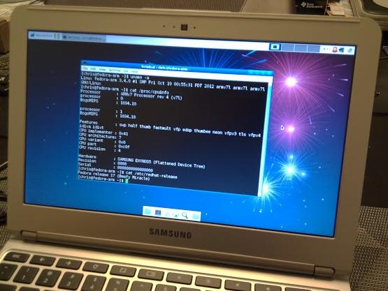 Samsung Chromebook with Fedora 17