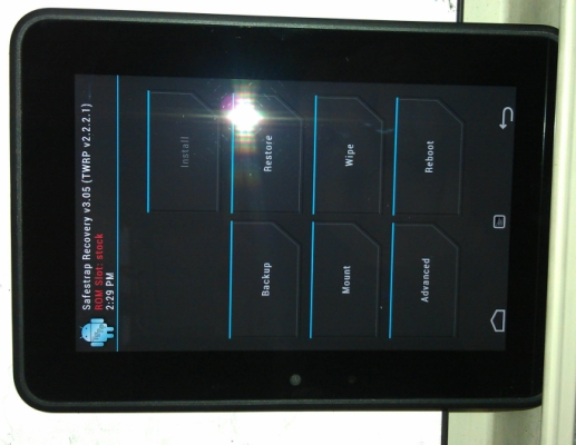 Amazon Kindle Fire HD with TWRP
