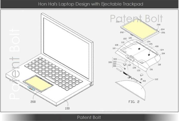 Foxconn detachable touchpad patent