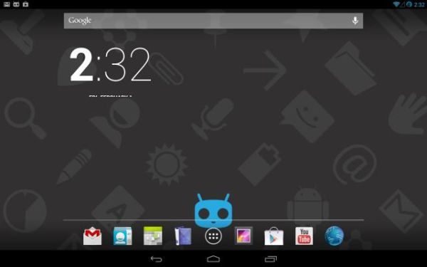Amazon Kindle Fire running CyanogenMod 10.1