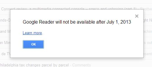 Google Reader closing