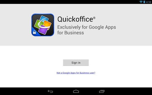 QuickOffice for Google Apps for Business