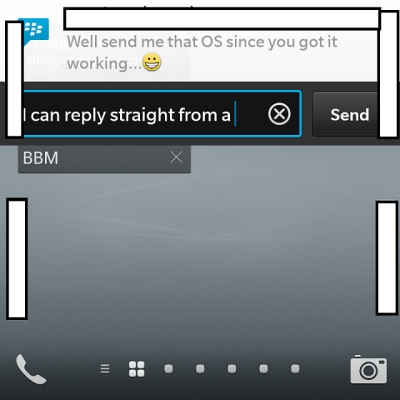 BlackBerry 10.2 quick reply
