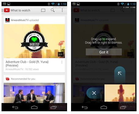New Youtube App For Android Brings New Ui Mini Player Liliputing