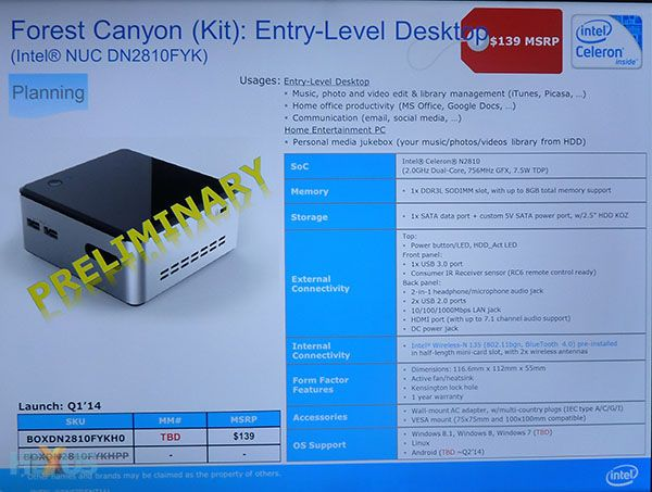 Intel Forest Canyon NUC