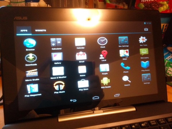 Android on the Asus Transformer Pad T100
