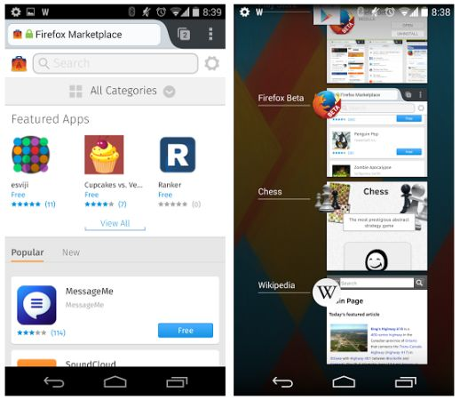 Install web apps as native Android apps with Firefox 29 beta