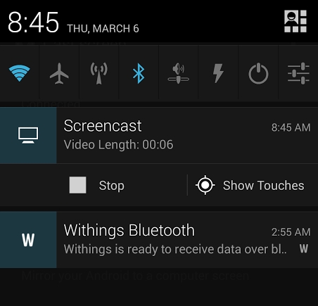 Koush's new app lets you mirror your Android screen to