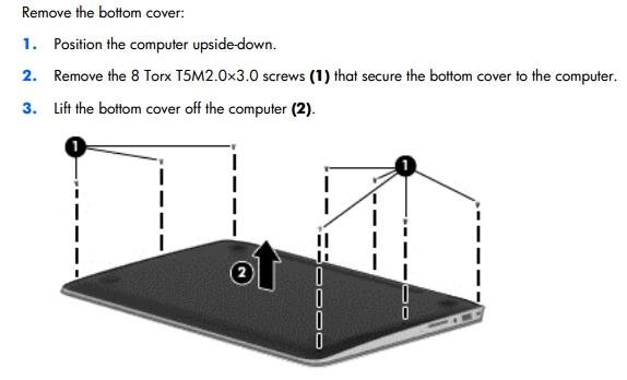 spectre 13 pro remove cover