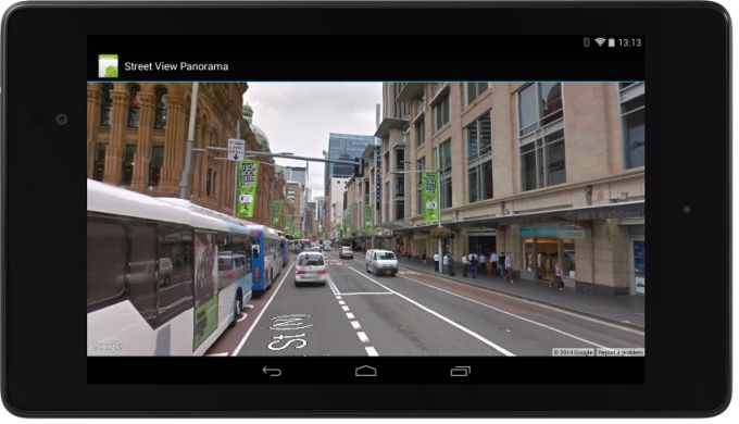 google street view in app