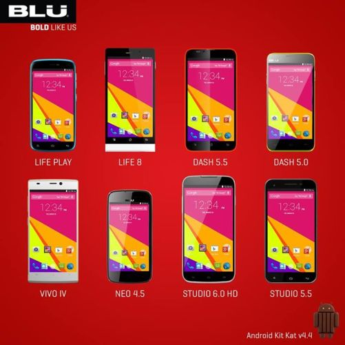 BLU promises Android KitKat update for 8 phones - Liliputing