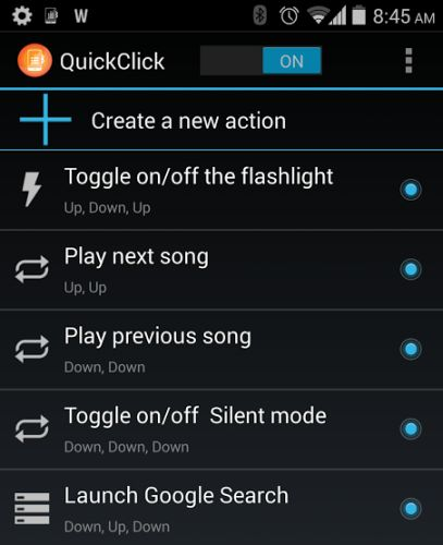QuickClick for Android gives volume buttons more functions