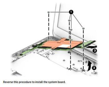 hp stream system board