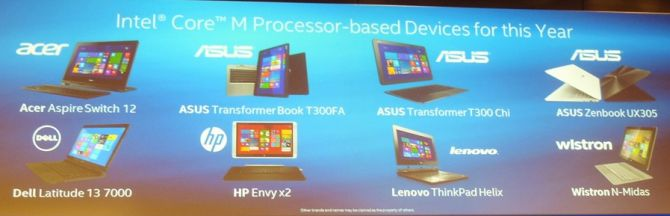 intel core m products