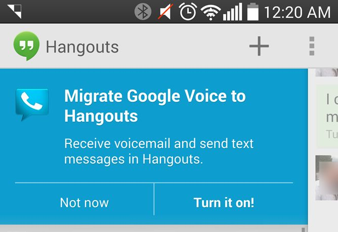 migrate to hangouts