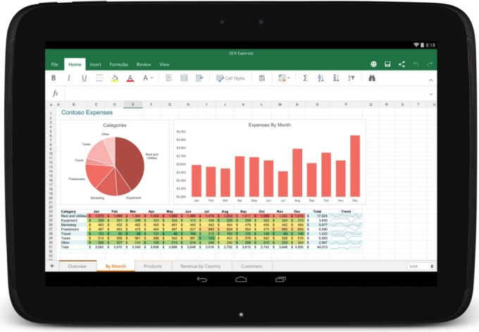 excel for android