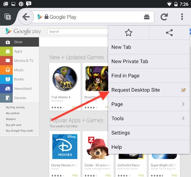 Google Play Store Firefox 1