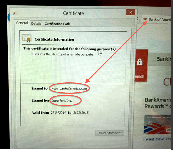 Superfish Fake Certificate