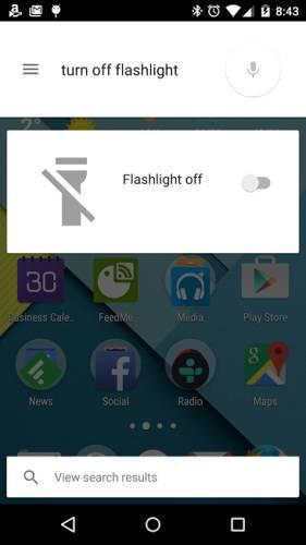 google voice flashlight