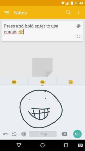 google handwriting emoji
