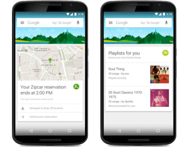 Google Now adds cards for 70 new apps including Zipcar