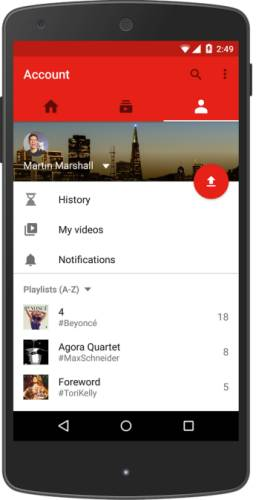 YouTube Mobile app get video editor, vertical video