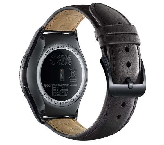 Samsung Gear S2 is a round smartwatch with a rotating ...